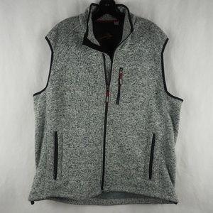 Orvis Men's Vest Full Zip Fly Fish Fleece Gray XL